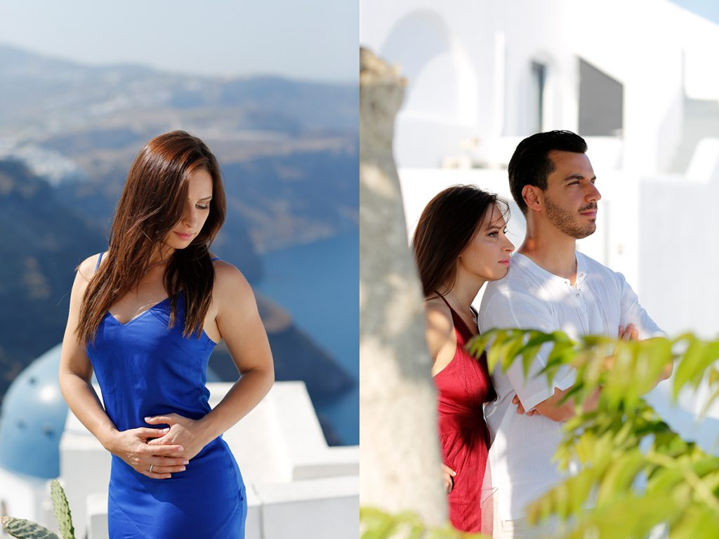 pre wedding santorini photographer